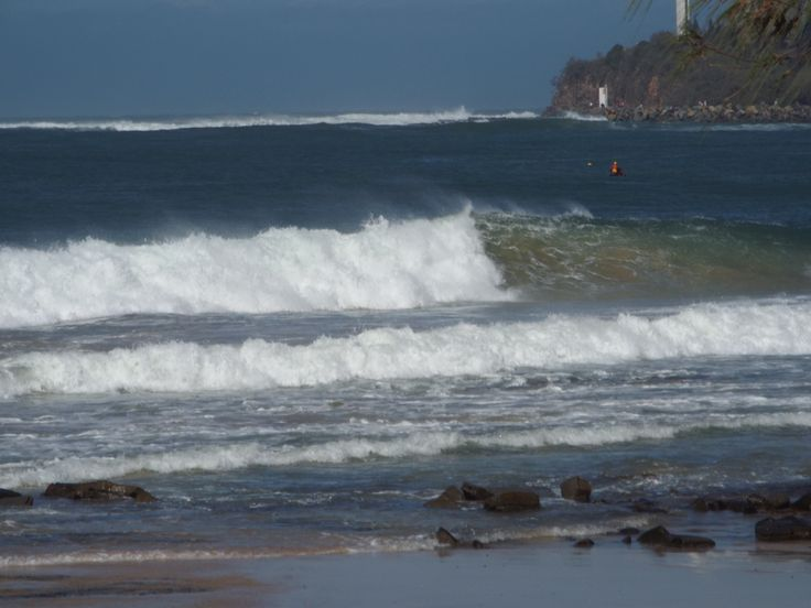 Some of the impressive wave action along the beach