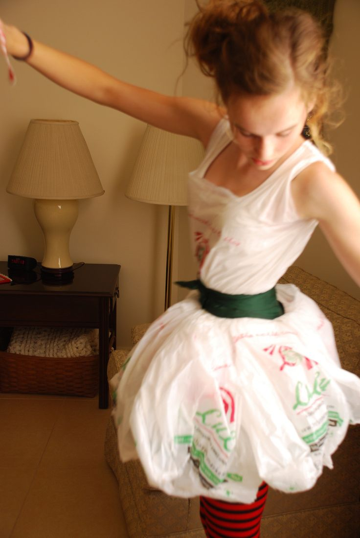 Dress O' Plastic Bags  •  Recycle a plastic bag dress in under 50 minutes