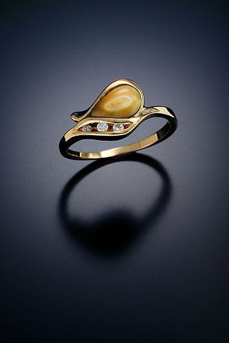 Ladies Elk Ivory Ring - I would like it better with sterling silver.