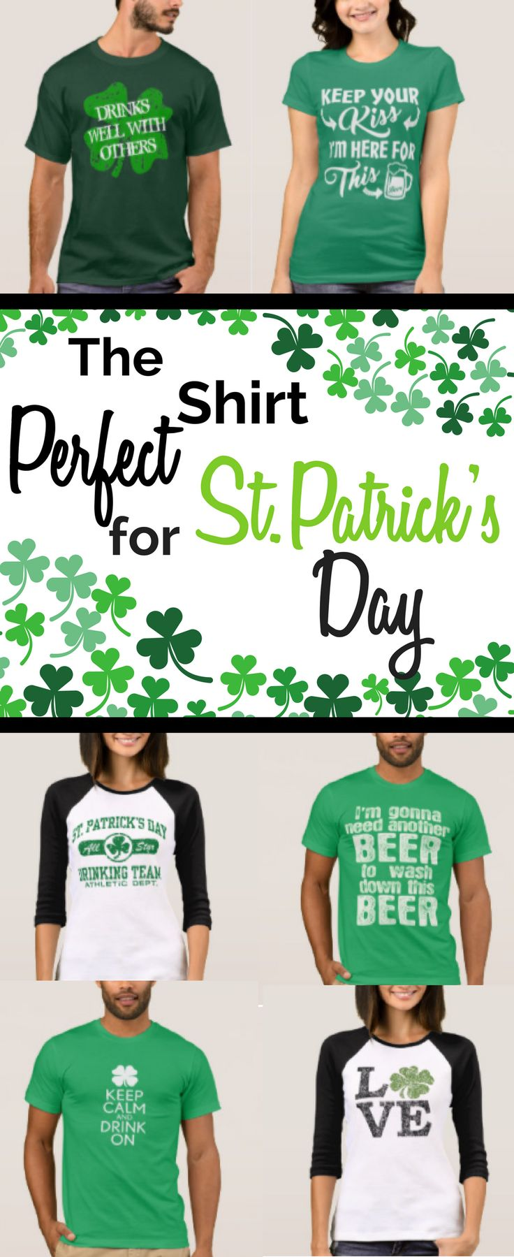 Are you looking for the perfect shirt for St. Patrick's Day? We've got leprechauns, pot of gold, rainbows, beer shirts and much more. Available in kids, adults and babies. Happy St. Patrick's Day