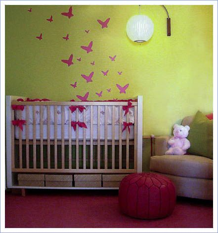 Paint ideas for a baby girls 39 room livestrong com for Baby room painting ideas