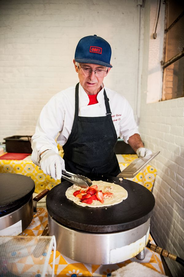 Made to order crepes! Such a great idea for a wedding reception {Photo by Viera Photographics via Project Wedding}