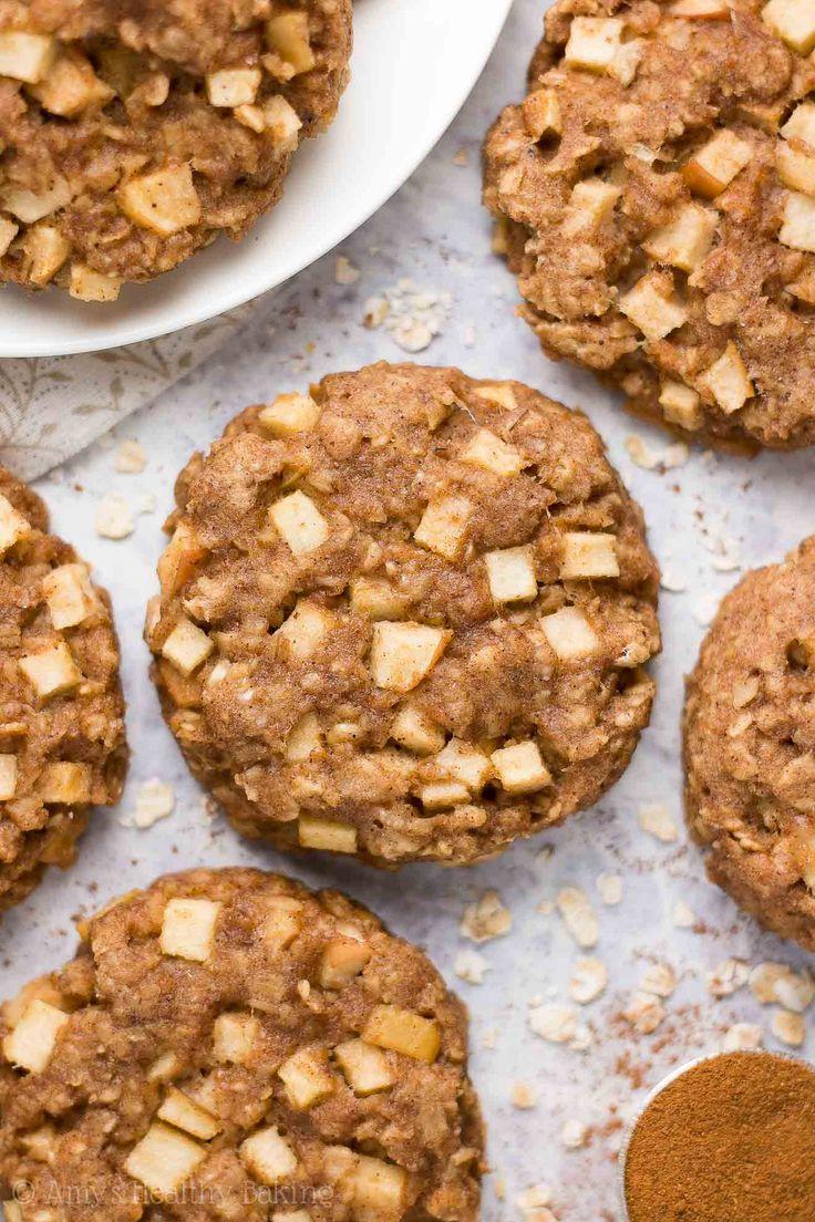 Healthy Apple Pie Oatmeal Breakfast Cookies