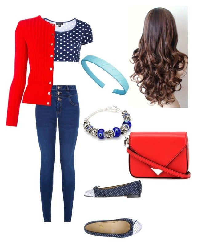 """Polka dots"" by rainbowfra on Polyvore featuring Topshop, New Look, Chérie Amour, Tory Burch and Alexander Wang"