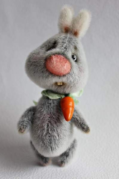 Bunny teddy Hrus by Tashka's Bears
