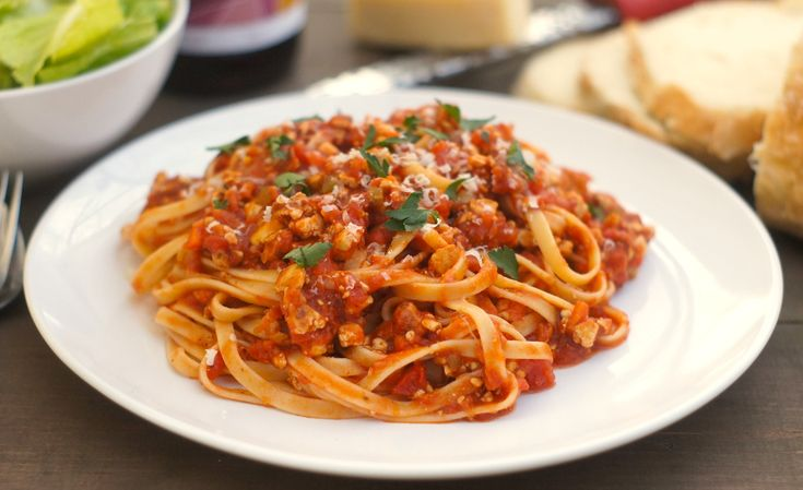 "Pasta With Tofu ""Bolognese"" {meat-free + vegetarian}"