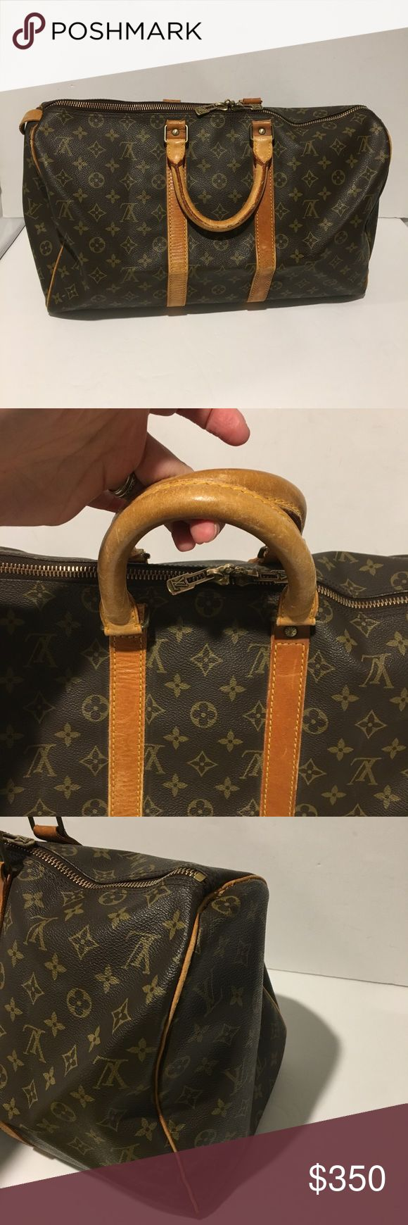 Authentic louis vuitton keepall 45 Vintage .ready to use.100% authentic .price firm .no trades Louis Vuitton Bags Travel Bags