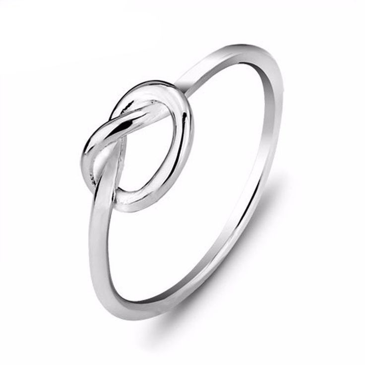 Genuine 925 Sterling Silver Knot Promise Rings