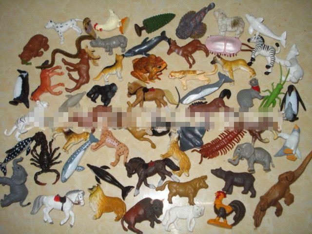 Сафари серии животная модель куклы моделирование пластиковые мини солдаты животные цифры для детей , чтобы знать животные действие игрушки 100 шт./лот