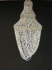 Vintage schelpen kroonluchter Bohemian style vintage shell chandelier