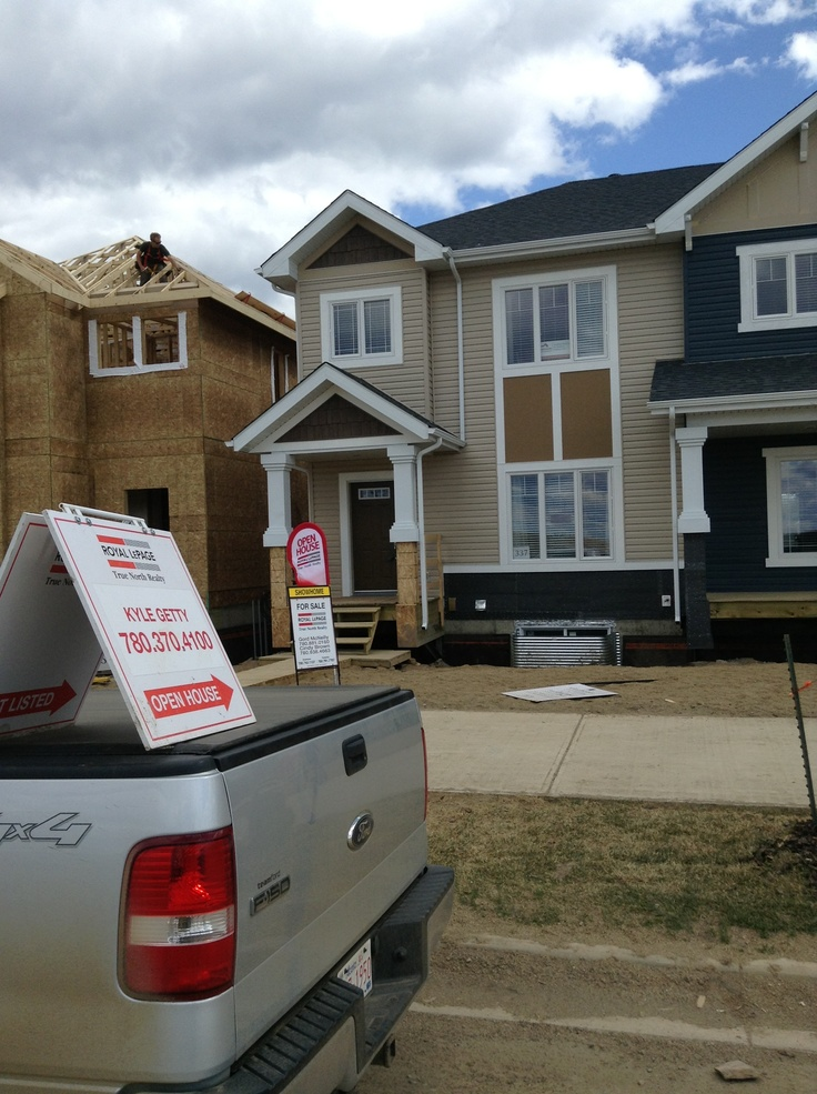 Look for the open house flags and directional signs off paquette and rainbow creek. Show home is open daily between 12-4pm