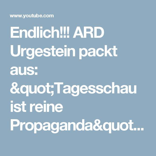 """Endlich!!! ARD Urgestein packt aus: """"Tagesschau ist reine Propaganda"""" - YouTube"""