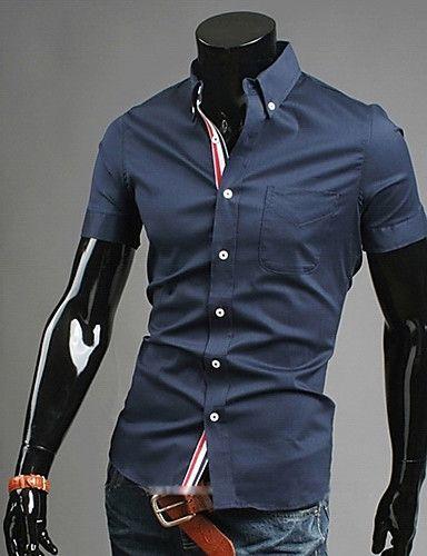 Effen Rood Overhemd Heren.9 99 Heren Zakelijk Informeel Grote Maten Overhemd Werk Effen