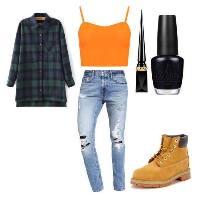"""Debbie Thornberry"" by emptyshadows on Polyvore featuring WearAll, Abercrombie & Fitch, Timberland, Christian Louboutin and OPI"