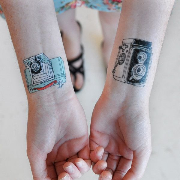 Temporary camera tattoos tattoos pinterest for Can fbi agents have tattoos