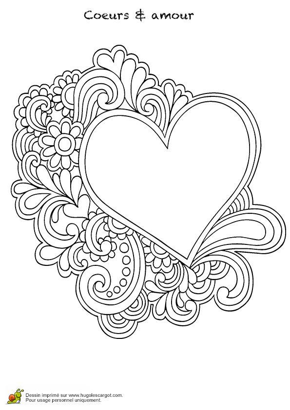 Coeur mandala et amour page 10 sur 16 sur hugolescargot - Dessin de coeur amoureux ...