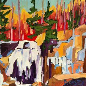 The Melt by David Casey. Ottawa artist, Canadian artist, landscape art, SANTINI GALLERY.