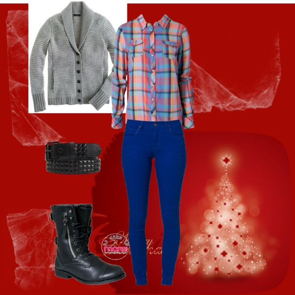 """Blue this Christmas"" by raluknaluk on Polyvore"