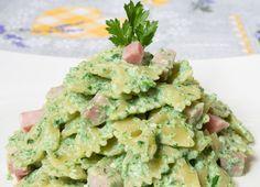 pasta ricotta e spinaci con prosciutto