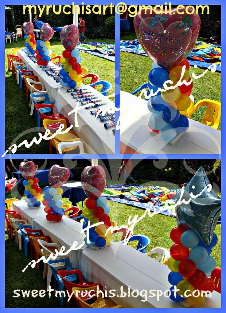 24 best centros de mesa infantiles images on pinterest for Decoracion de mesas infantiles