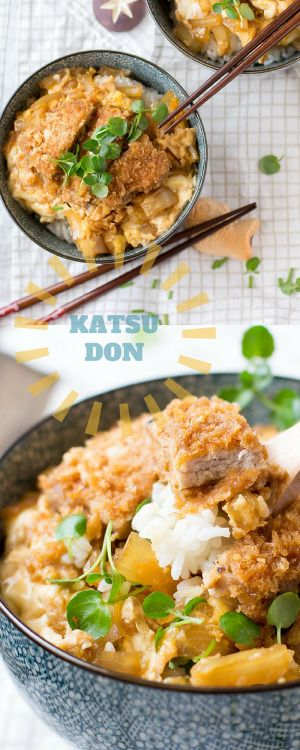 Katsudon is a delicious Japanese dish made with ri…