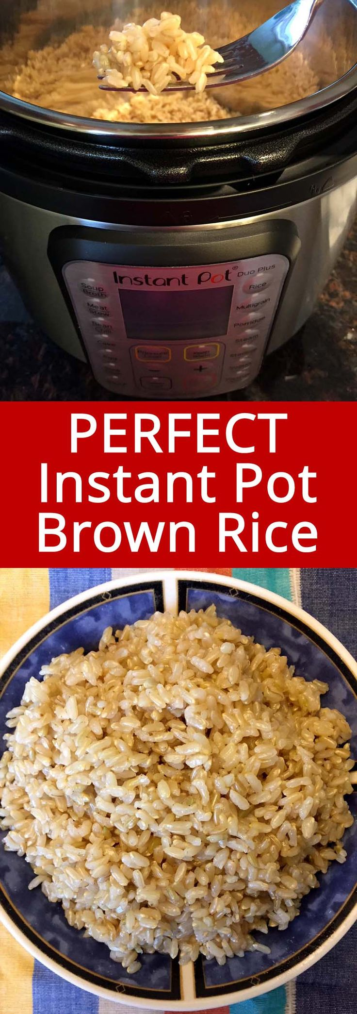 This recipe makes perfect Instant Pot brown rice! So easy and the rice comes out…