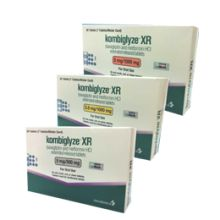 KOMBIGLYZE XR TAB 5 MG : Saxagliptin is a dipeptidyl peptidase-4 (DPP-4) inhibitor antidiabetic for the treatment of type 2 diabetes.