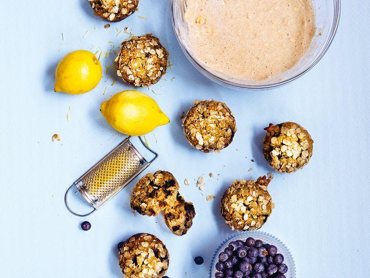 Frukostmuffins med blåbär och citron | Recept från Köket.se