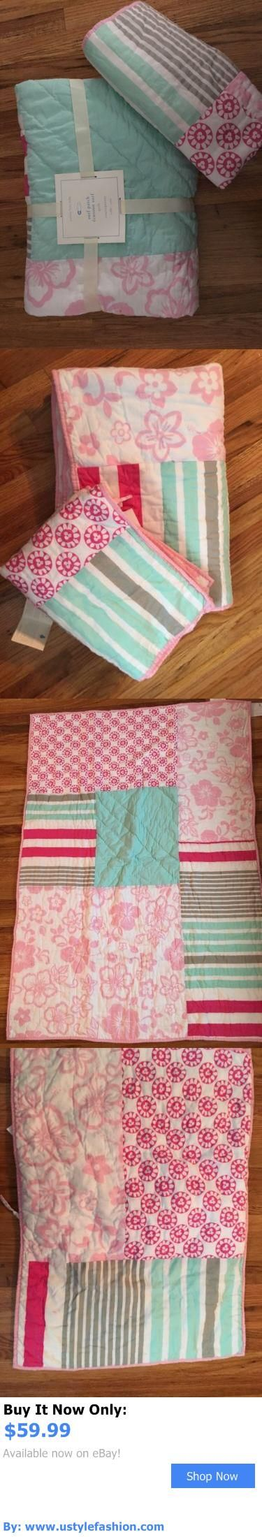 Quilts And Coverlets: Pottery Barn Kids Surf Patch Toddler Quilt And Sham Pink Crib Girls Hibiscus Surf BUY IT NOW ONLY: $59.99 #ustylefashionQuiltsAndCoverlets OR #ustylefashion