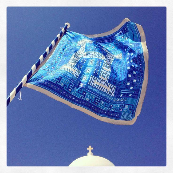 """""""Hellas"""" silk scarf by Grecian chic!"""