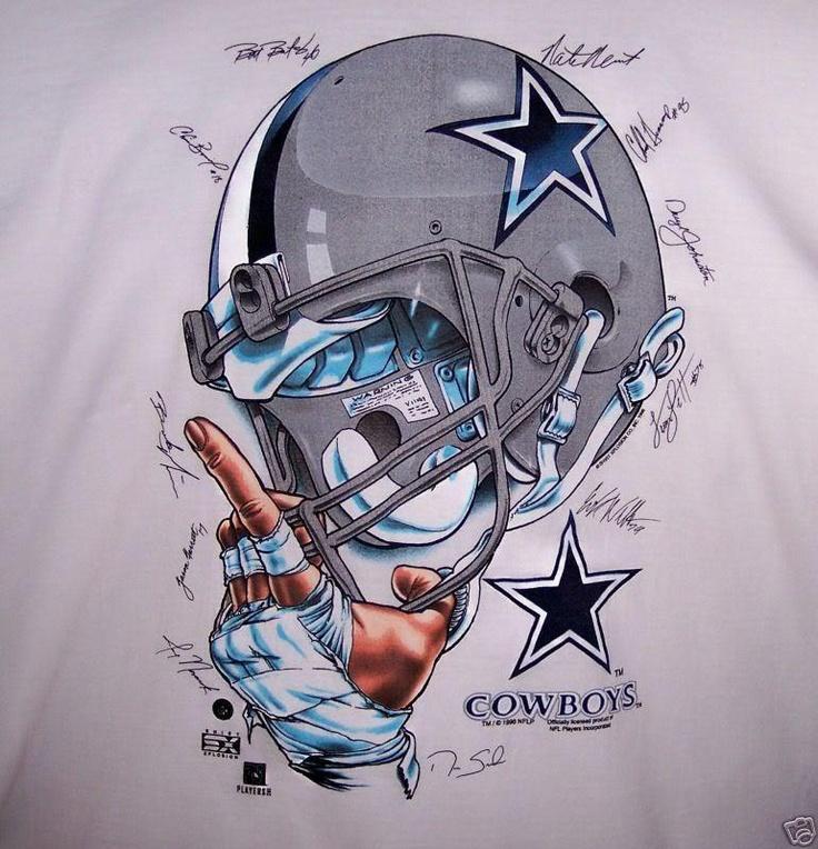 Awesome Cowboys Helmet Graphic Design