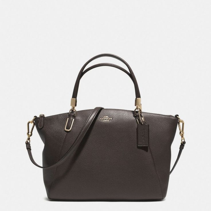 The Small Kelsey Crossbody In Pebbled Leather from Coach I want this cute simple bag