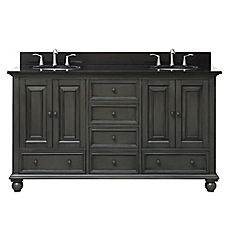 image of Avanity Thompson 60-Inch Double Vanity in Charcoal Collection