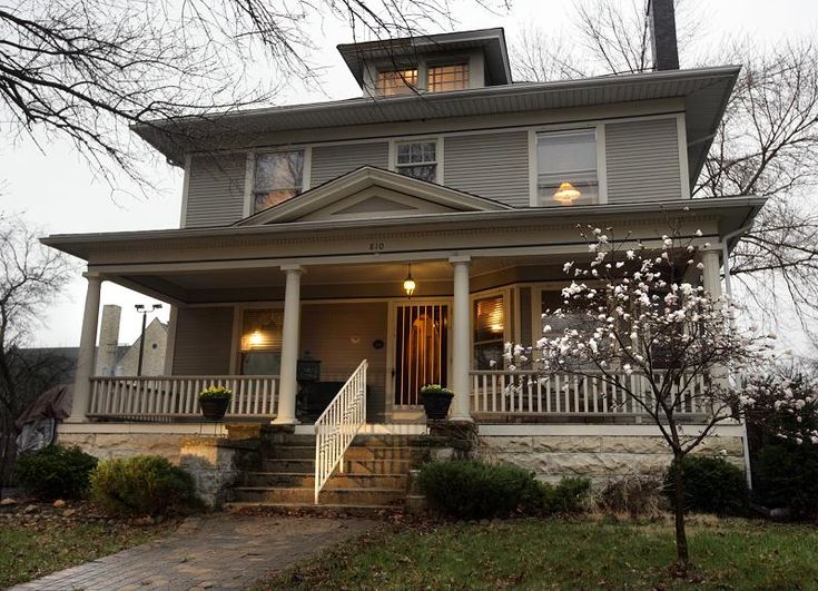 American Foursquare House Dream Home Pinterest