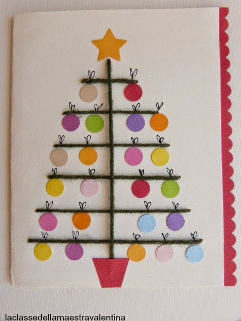 Children of many different ages could enjoy making a tree like this, either as a card or just as a picture. Could be made with scraps of colored paper, scraps of felt, stickers, buttons, crayons, markers, or any combination of these items.