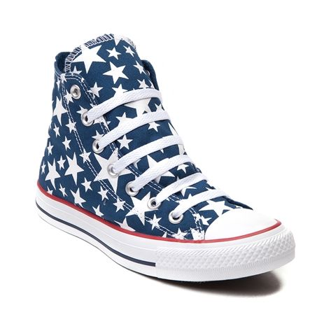 Shop for Converse All Star Hi Stars Sneaker in Blue White at Journeys Shoes.