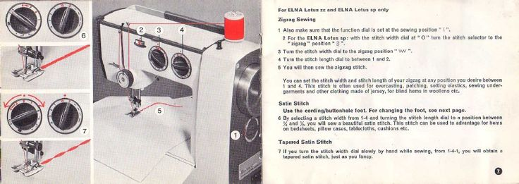 Elna Lotus Sewing Instruction Manual