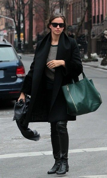 Irina Shayk Photos Photos -  BYLINE: EROTEME.CO.UK.Russian model Irina Shayk walk trough West Village with engagement ring on the left hand (Russian stile). - Irina Shayk Sports a Ring 2