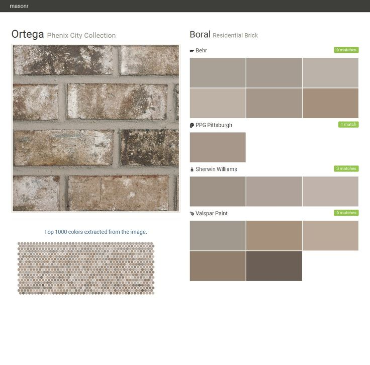 Ortega Phenix City Collection Residential Brick Boral Behr Ppg Paints Sherwin Williams