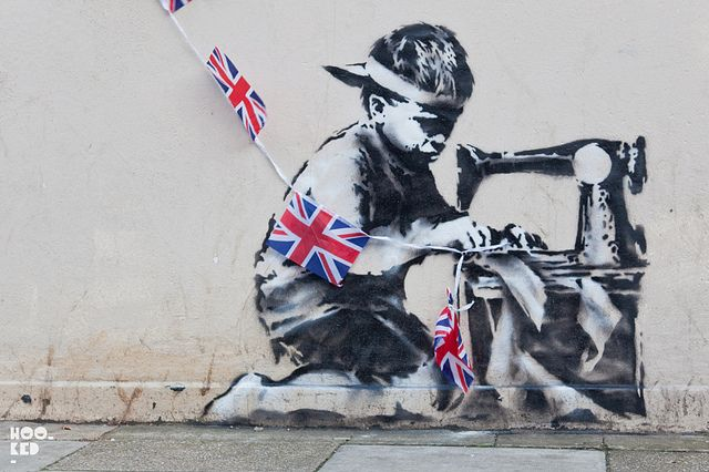 Banksy by Hookedblog, via Flickr  Queen's diamond jubilee