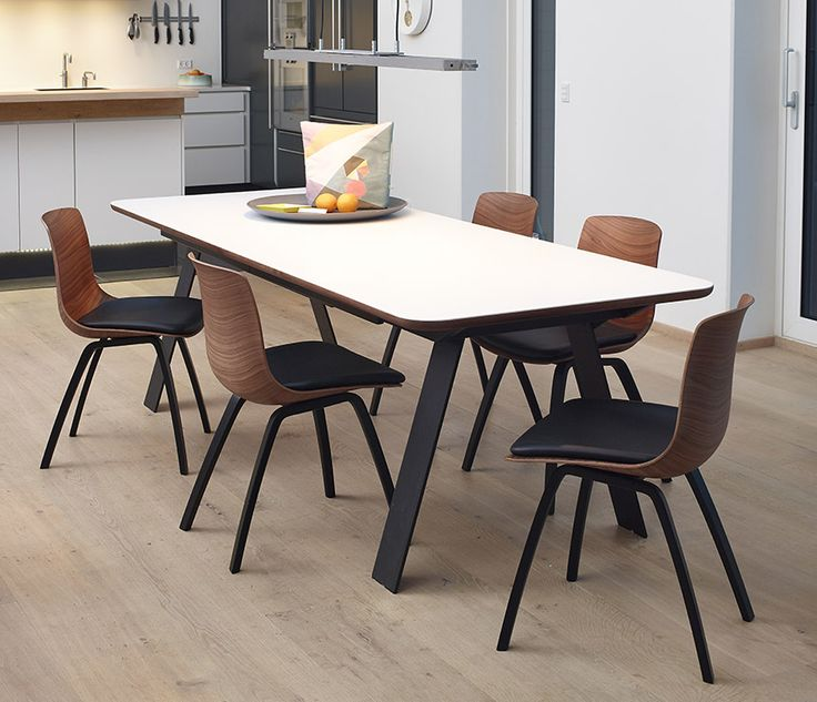 Corian and wood dining table from Denmark