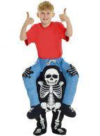 Disfraz de zombie a hombros de la muerte Carry Me infantil