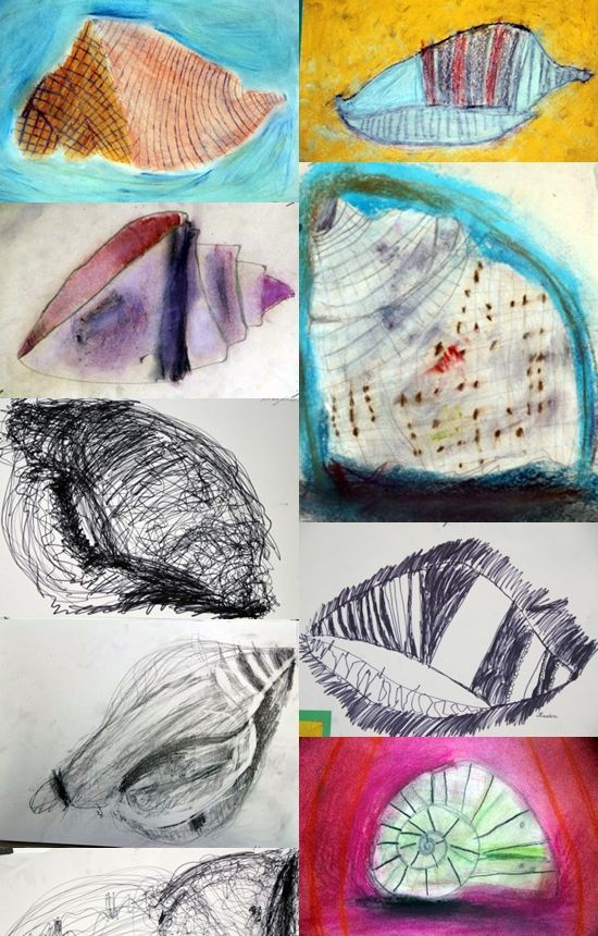 look to the art of children for wonderfully free ways to represent objects in a simple way