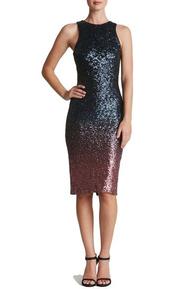 Dress the Population Shawn Sequin Midi Dress available at #Nordstrom
