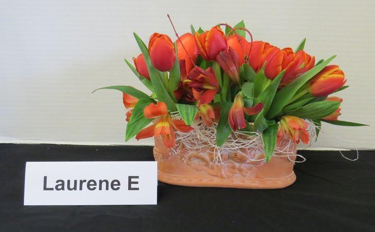 February 8, 2018 meeting of the Mid Island floral Art Club in Qualicum Beach B.C. Canada
