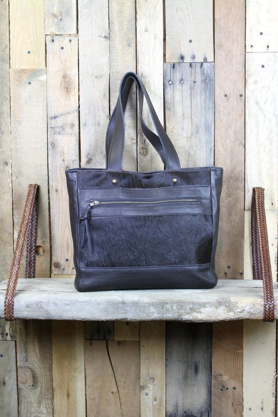 Classic Leather Tote Black Leather Bag Leather Tote Bag by 14xbags