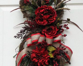 Winter Wreath Pine and Berries made it to by SimpleJoysofLife
