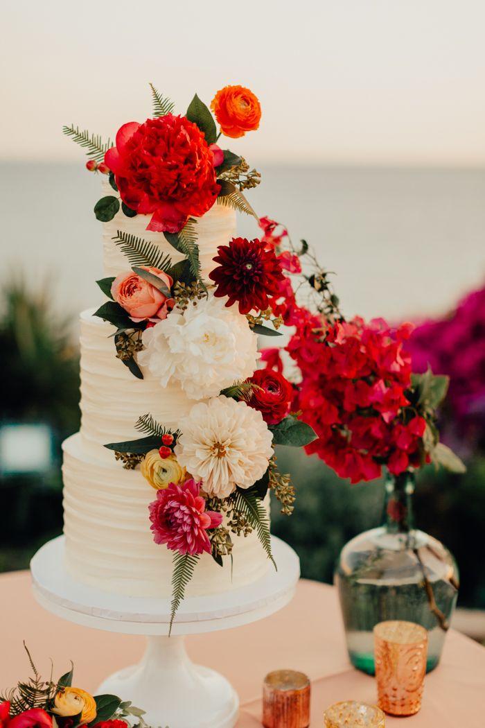 Colorful Latin Inspired Wedding At Casa Romantica Wedding Cake