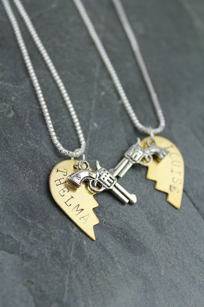Thelma & Louise Handmade Friendship Necklaces - One for You & One for Your BFF