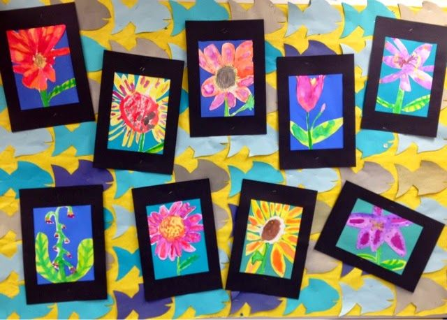 1st Grade Watercolors-O'Keeffe Flowers-Art with Mr. Giannetto Blog